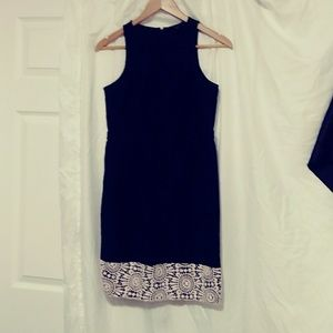 ANN TAYLOR petite SLEEVELESS black dress size 4p